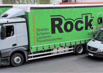 Fuhrpark der Rockenstein GmbH - Truck, Mercedes Kastenwagen, VW Caddy