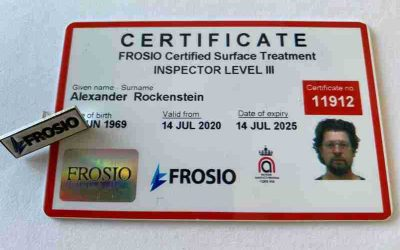 Alexander Rockenstein jetzt Frosio Beschichtungsinspektor