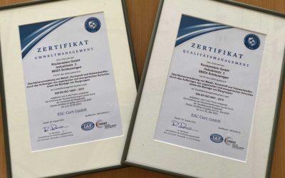 NEU! Zertifizierung nach DIN EN ISO 14001:2015